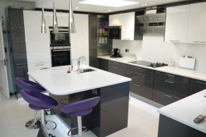 High-Gloss-Modern-CharcoalWhite Kitchen